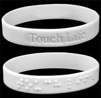 Touch Life  - Braille Glow in the dark wristband